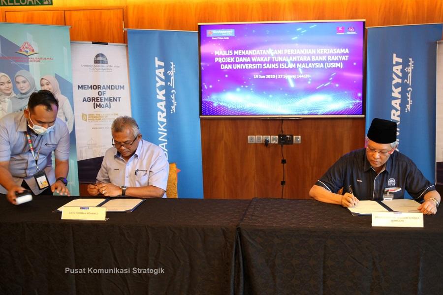 USIM Kerjasama dengan Bank Rakyat dalam Projek Wakaf Tunai